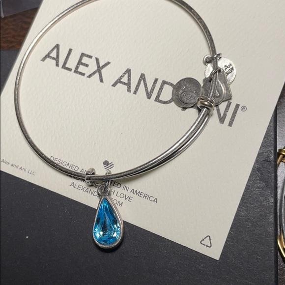 Alex & Ani blue crystal bangle